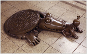 "Tom Otterness Brings ""Bronze"" Fun To NYC Subways"