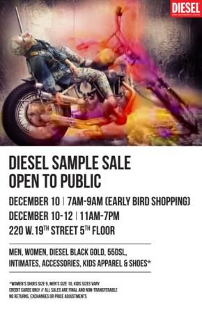 NYC Diesel Sample Sale EndsToday