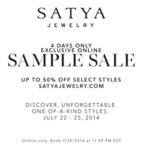 Satya Jewelry SampleSale
